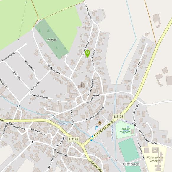Anfahrtskarte von OpenStreetMap